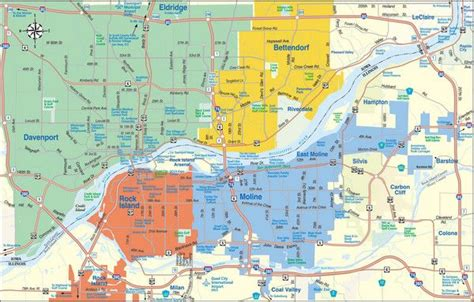 Casino Boat Quad Cities by Here S A Map Of The Quad City Area Qca Quad Cities
