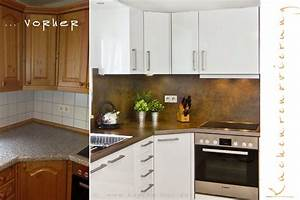 Klinkerfassade Streichen Vorher Nachher : einbaukueche renovieren arbeitsplatten rueckwand fronten kueche ~ Markanthonyermac.com Haus und Dekorationen