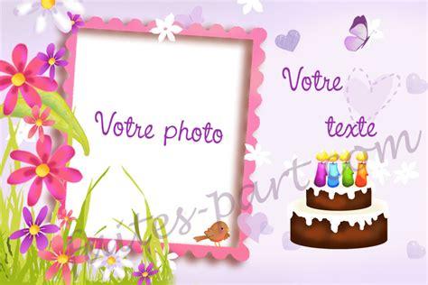 carte d invitation pour anniversaire adulte avec montage photo pour femme illustr 233 avec g 226 teau