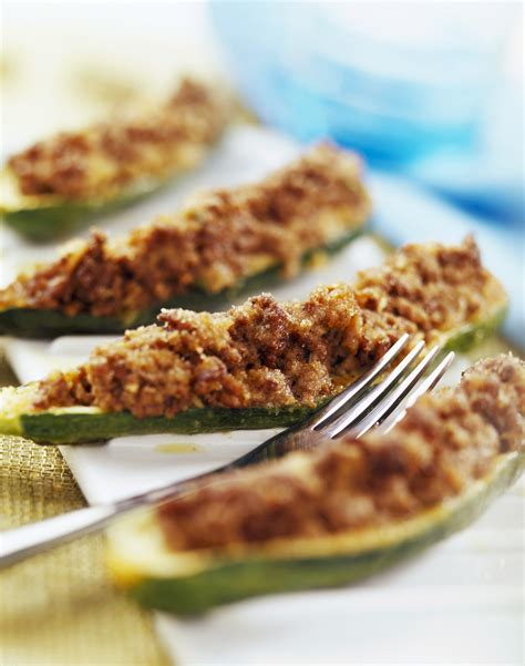 Mushroom Stuffed Zucchini Boats by Cheesy Mushroom Stuffed Zucchini Boats Recipe