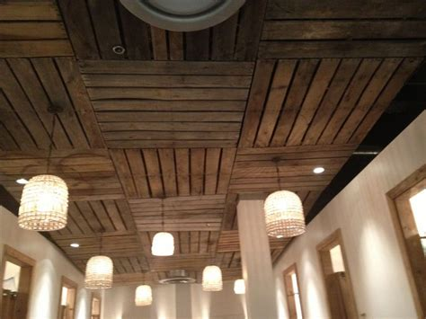 pallet ceiling this idea for basement and also