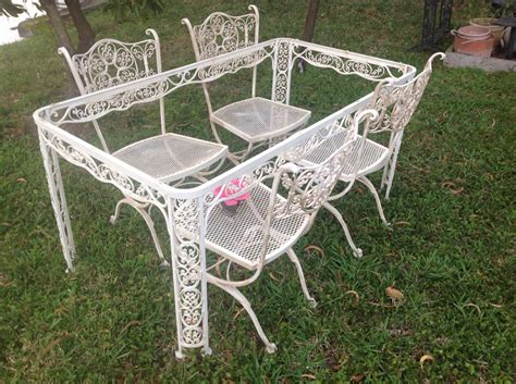 shabby chic woodard wrought iron chairs vintage by