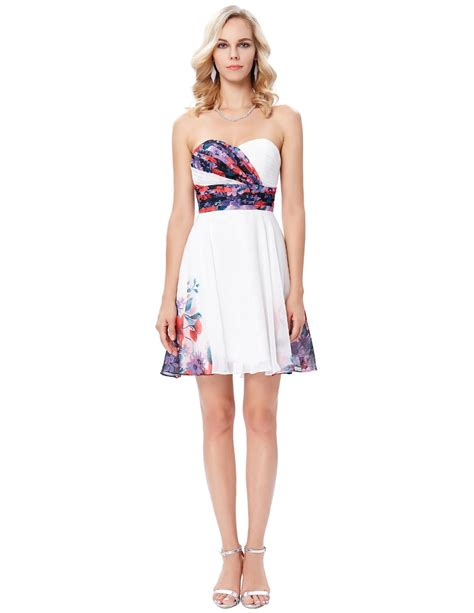 Floral Print Cocktail Prom Party Dress  Walker's Bridal