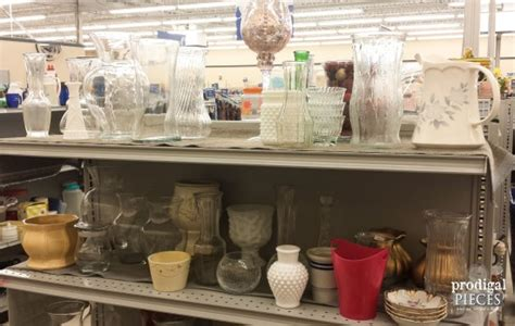 Home Decor Thrift Store : Thrift Store Glass Made New
