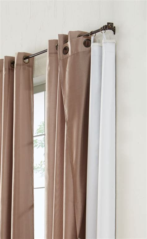 home decorators collection blackout curtain liner white 45x77 quot the home depot canada