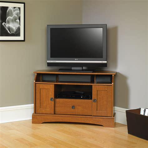 furniture oak corner tv cabinet with doors in beautiful design great corner tv
