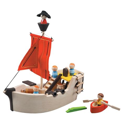 Pirate Boat Toy by Plan Toys Pirate Ship