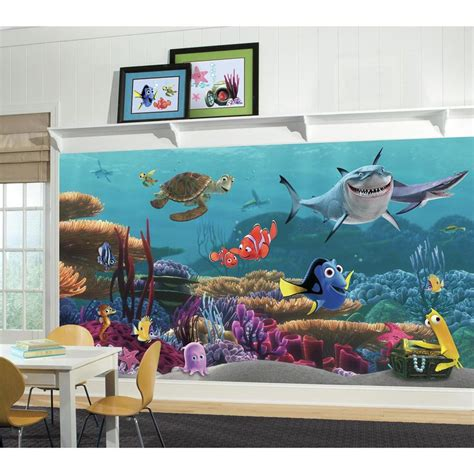 new xl finding nemo wallpaper mural room or bathroom prepasted wall decor ebay