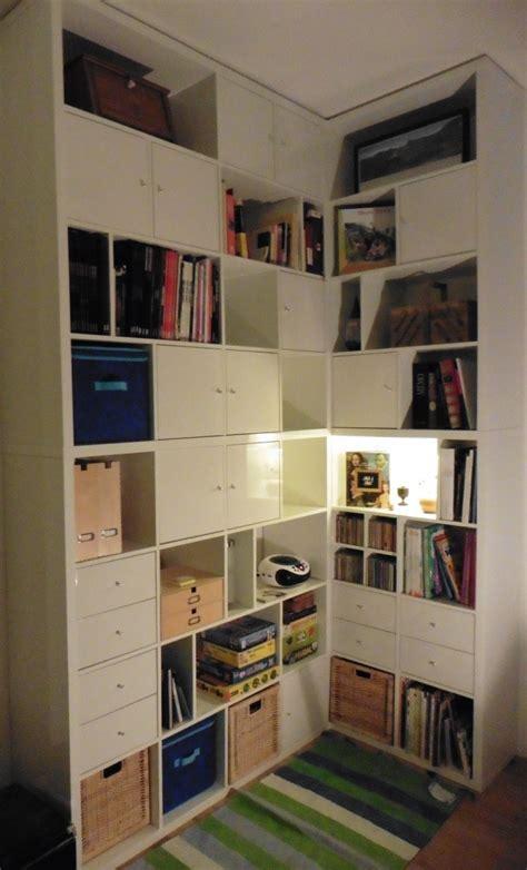 une biblioth 232 que d angle sur mesure avec kallax meuble kallax angles et apparaitre