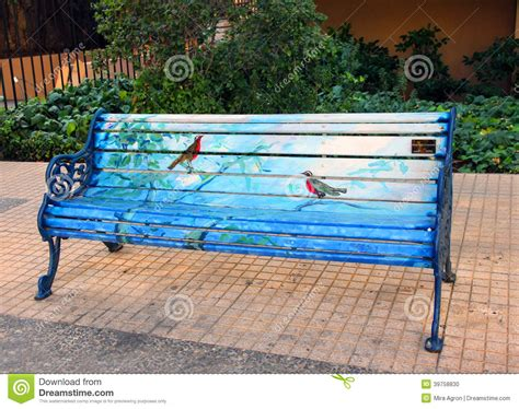 Painted Bench Editorial Image Image Of Project, Chile