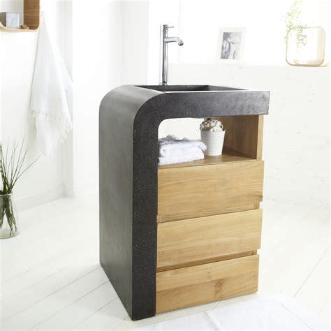 cuisine meuble sous vasque bois meubles sous vasque salle de bain tikamoon meuble vasque leroy