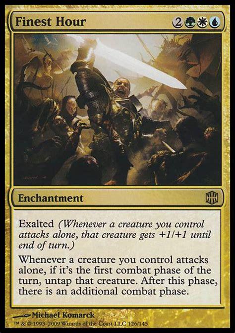 Mtg Exalted Deck Tech by Finest Hour Mtg Card