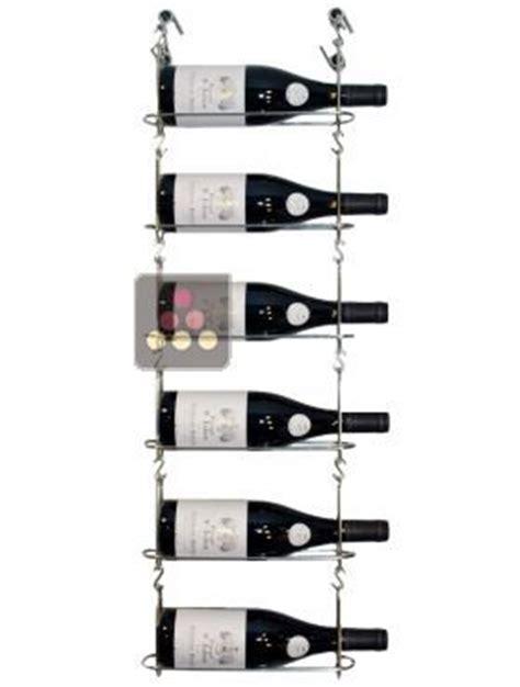 support mural de 6 bouteilles chain my wine aci cmw100 chez moi vin
