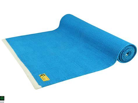 tapis de taj 100 coton bio 2 m x 66 cm x 5mm bleu chin mudra sas