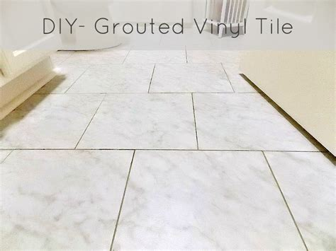 diy grouted vinyl floor reveal and tutorial sweet parrish place