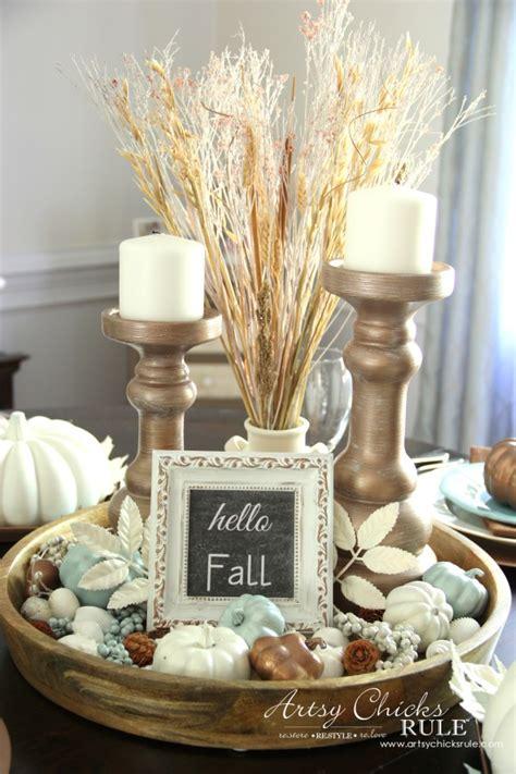 coastal casual fall tablescape on a budget artsy