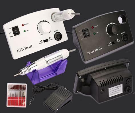 Uk Plug Electric Acrylic Nail Drill File Tip Salon Machine