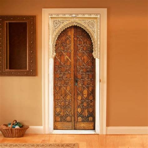 style your door trompe l oeil alhambra by couture deco
