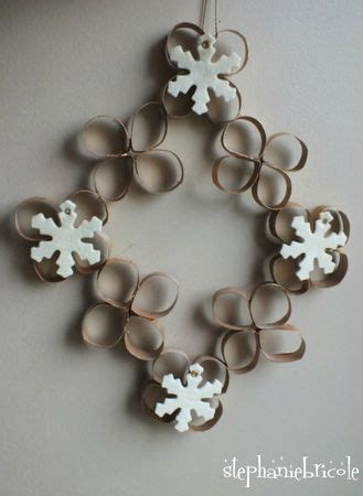 tuto recup noel couronne en rouleaux de papier toilette wreaths upcycling and noel
