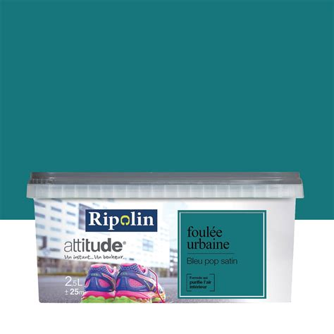 peinture bleu pop ripolin attitude foul 233 e urbaine 2 5 l leroy merlin