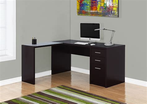 i 7137 computer desk cappuccino corner with tempered