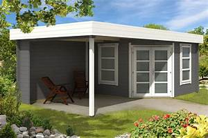 Anbau Für Gartenhaus : flachdach gartenhaus oregon 40 mit anbau ~ Whattoseeinmadrid.com Haus und Dekorationen