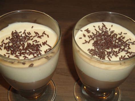 verrine chocolat blanc et noir