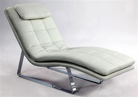 bonded leather tufted chaise lounge with chrome legs