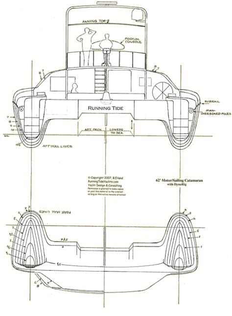 Catamaran Hull Lines by Dynarig Motorsailer
