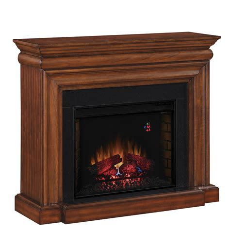 allen electric fireplace shop allen roth 50 in w 4 600 btu java wood and metal