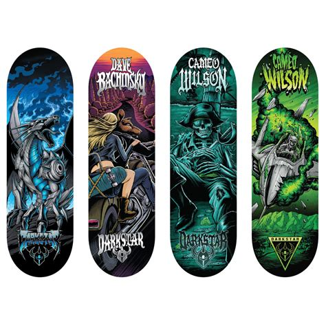 spin master tech deck 96mm fingerboard 4 pack darkstar series
