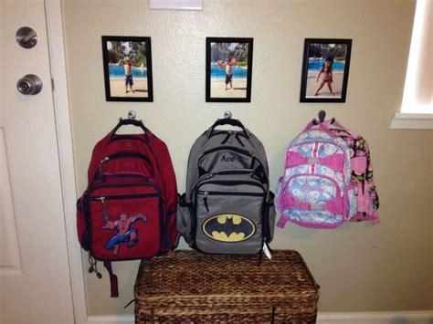 backpack hooks for home personalized backpack hooks home backpack