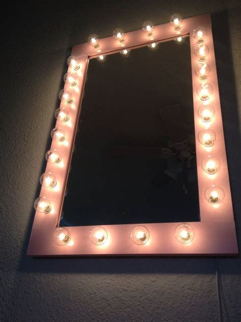 custom lit quot pretty n pink quot vanity make up table top light up mirrorp