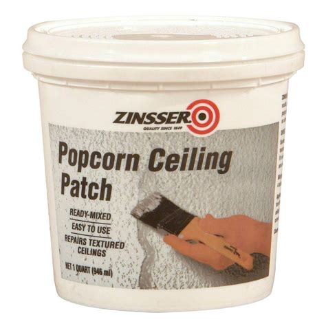 zinsser 1 qt ready mixed popcorn ceiling patch of 6