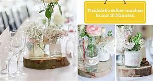 Einfache Herbstdeko Tisch : tischdeko selber machen in nur 10 minuten ~ Markanthonyermac.com Haus und Dekorationen