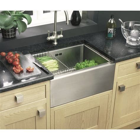 Leisure Sinks And Taps by Clearwater Belfast Single Bowl 530mm X 395mm Brushed Steel