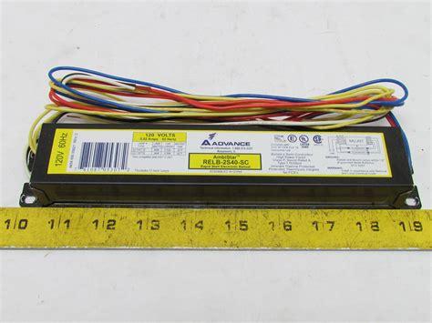 advance electronic ballast rapid start 2 t12 ls 120v min starting temp 50 176 ebay