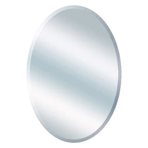 21 quot w x 31 quot h beveled oval mirror at menards 174