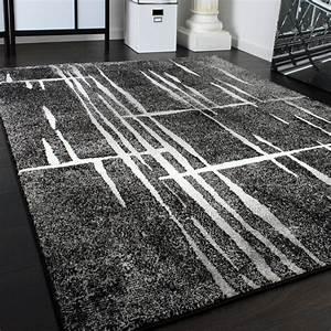 Türkische Teppiche Modern : designer teppich modern trendiger kurzflor teppich in grau schwarz creme meliert ebay ~ Markanthonyermac.com Haus und Dekorationen