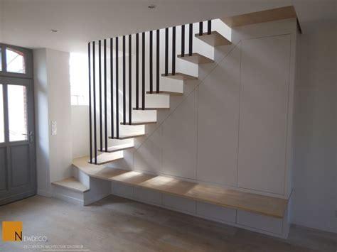 escalier sur mesure escalier contemporain garde corps