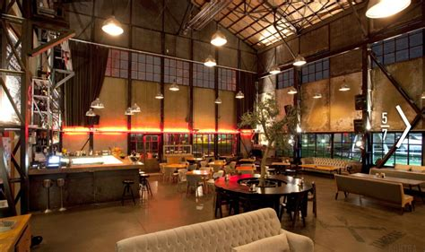 The Home Interior Warehouse : Spacious Rustic Warehouse Industrial Cafe Interior Concept