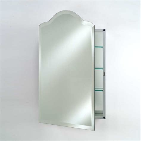 afina 20 quot scallop top wall mount mirrored medicine cabinet beveled sd 2026 sca bv j keats