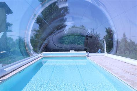 le des professionnels de la piscine et du spa un abri bulle gonflable pour piscine