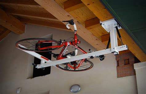 flat bike lift ceiling bike rack