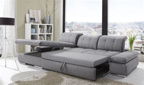 alpine sectional sleeper sofa left arm chaise facing black white fabric buy at best