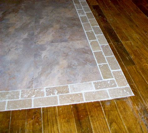 homesteading wood floor to tile transition