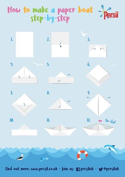 How To Make A Paper Boat Step By Step With Pictures how to make a paper boat step by step persil