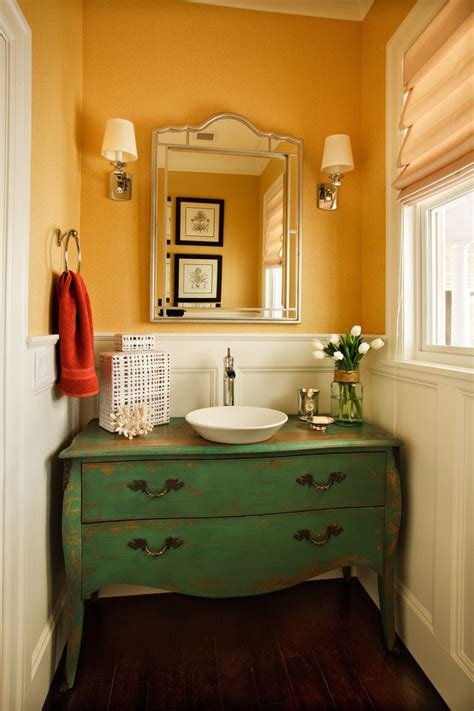 Bathroom Sink Vanity Powder Room Contemporary With Doorway