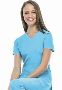 """""""Pitter-Pat"""" Shaped V-Neck Top in Turquoise from Brevard ..."""