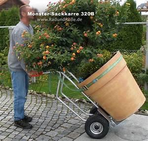 Tragehilfe Für Kübelpflanzen : baumschulkarre mit extra grossen raedern f gro e pflanzkuebel gartendekoration etc ~ Markanthonyermac.com Haus und Dekorationen